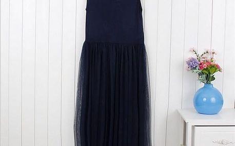 Pohodlné šaty na letní radovánky -Modrá