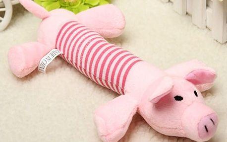 Plyšová pískací hračka pro psy - prase