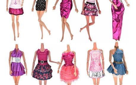 Šaty pro panenku - 10 kusů