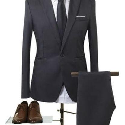 Pánský společenský oblek - černý, velikost č. 2