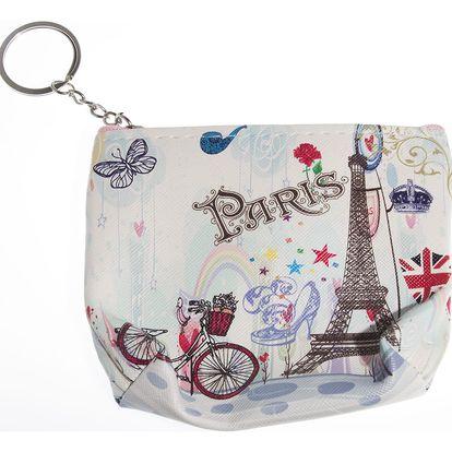 Peněženka Paříž mini na drobné mince růžová světlá