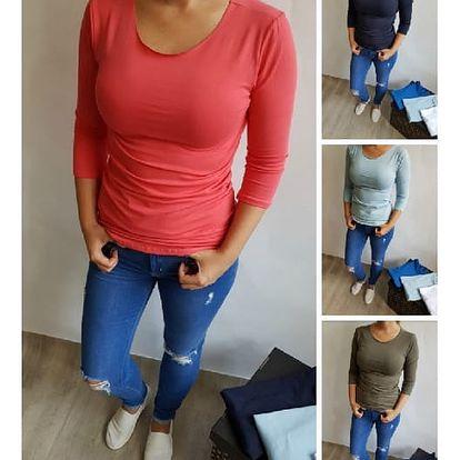 Jednoduché dámské tričko Basic