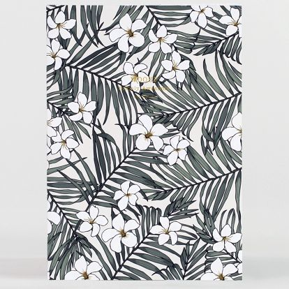 Woouf! Notes Monoi A5, zelená barva, bílá barva, papír