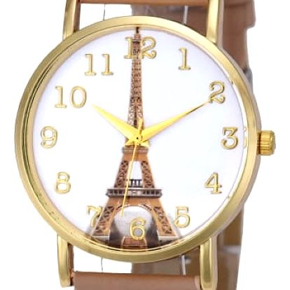 Analogové hodinky s Eiffelovou věží