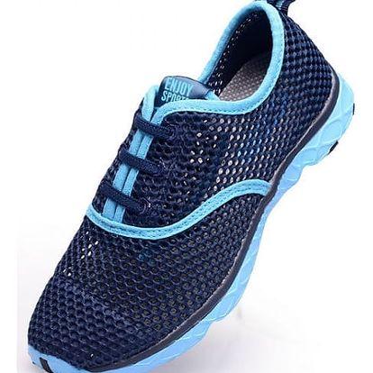 Letní běžecké boty z prodyšné síťoviny - dámské, modré, vel. 24,5cm (39)