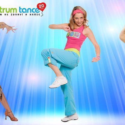 7 tanečních lekcí nebo cvičení v Centru Tance