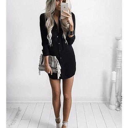 Košilové šaty - černá barva, velikost 5