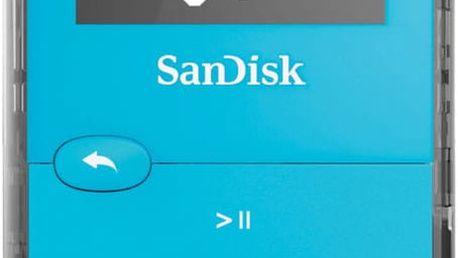 SanDisk Sansa Clip Jam 8GB, modrá - SDMX26-008G-G46B