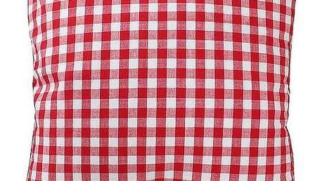 Krasilnikoff Povlak na polštář Red checker 50x50, červená barva, textil