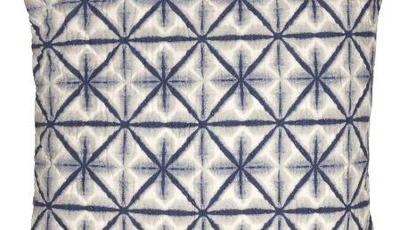 GREEN GATE Prošívaný povlak na polštář Lia blue 50x50, modrá barva, textil