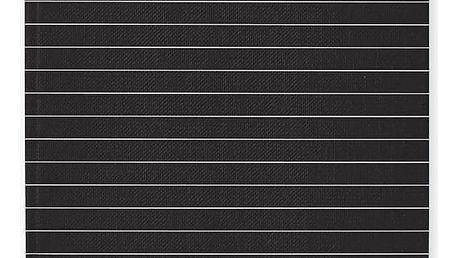 DESIGN LETTERS Černý zápisník Notes, černá barva, bílá barva, papír