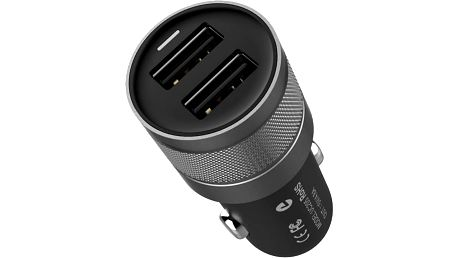 EPICO dual car charger, nabíječka do auta - 9915101300069 + EPICO Nabíjecí/Datový Micro USB kabel EPICO SENSE CABLE