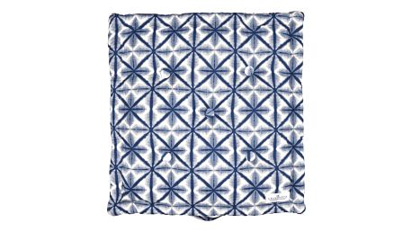 GREEN GATE Sedák Lia blue 50x50, modrá barva, textil