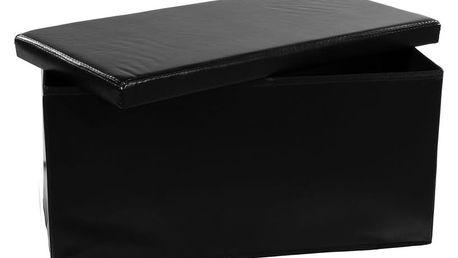 STILISTA 6129 Skládací lavice s úložným prostorem - černá