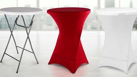 Skládací párty stolky s elastickým potahem