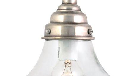 IB LAURSEN Skleněná lampa Sharp edged, stříbrná barva, čirá barva, sklo, kov