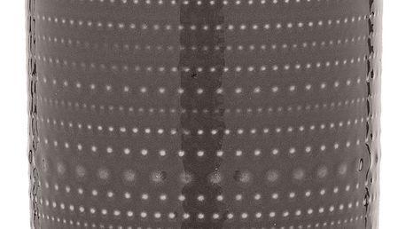 Bloomingville Porcelánová dóza Anna Brown - větší, hnědá barva, dřevo, porcelán