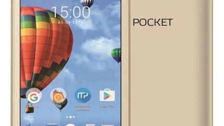 Mobilní telefon myPhone POCKET (TELMYAPOCKETGO) zlatý