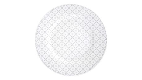 Krasilnikoff Dezertní talíř Grey diagonal, šedá barva, porcelán