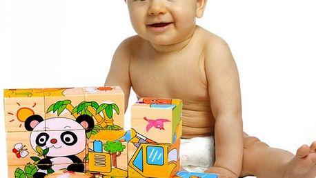 Dětské dřevěné kostky se zvířátky - dodání do 2 dnů