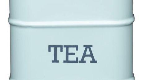 Kitchen Craft Plechová dóza na čaj Vintage blue, modrá barva, kov