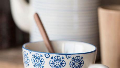 IB LAURSEN Hrnek Casablanca blue, modrá barva, keramika