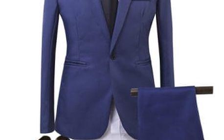 Pánský společenský oblek - sapphire modrá, velikost č. 2