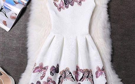 Elegantní šaty s originálními motivy - Varianta 16 - Velikost 1