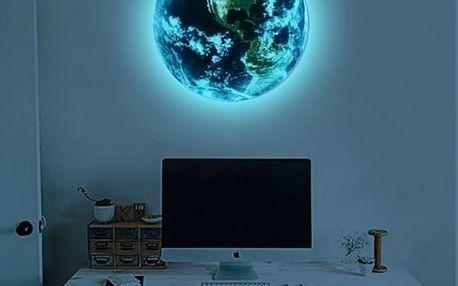 3D Samolepka Země svítící v noci