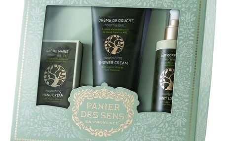 Panier des Sens Dárkový set kosmetiky s olivovým olejem, zelená barva, plast