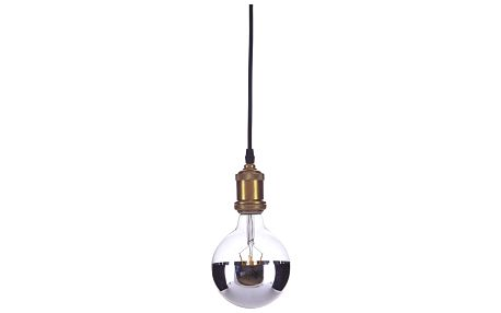 House Doctor LED žárovka Horizontal Silver, stříbrná barva, sklo