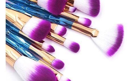 Sada kosmetických štětců různých barev - 7 nebo 12 ks