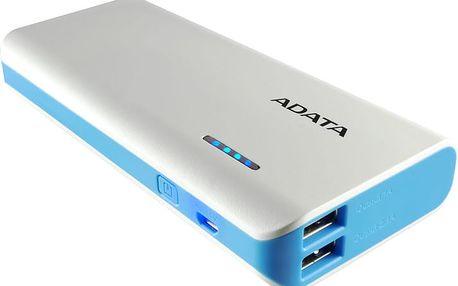 ADATA PT100 10000mAh bílá/modrá - APT100-10000M-5V-CWHBL