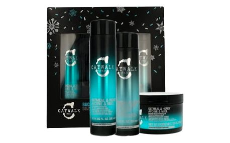 Tigi Catwalk Oatmeal & Honey dárková kazeta pro ženy šampon 300 ml + kondicionér 250 ml + maska na vlasy 200 g