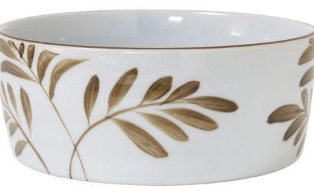 HK living Porcelánová miska Bamboo, béžová barva, porcelán