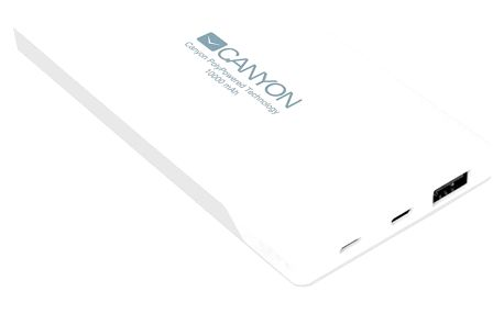 Canyon powerbanka 10000 mAh, bílá - CNS-TPBP10W