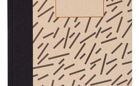Ohh Deer Sešit v pevných deskách Black Dash A4, hnědá barva, papír