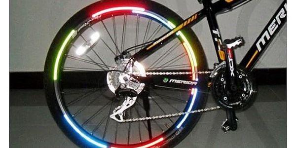 Reflexní nálepky na kolo