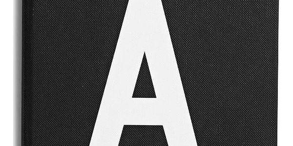 DESIGN LETTERS Zápisník A for Addresses, černá barva, papír