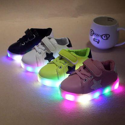 Dětské boty se svíticí podrážkou - 28 - Zelená