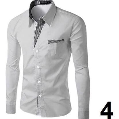 Pánská formální košile s dlouhým rukávem - 4 - velikost 8