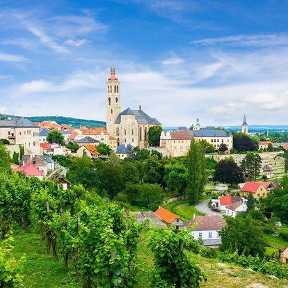 Romantika v Kutné Hoře: zapůjčení kol i procházka