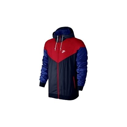 Pánská bunda Nike M NSW WINDRUNNER XL OBSIDIAN/UNIVERSITY RED/WHITE