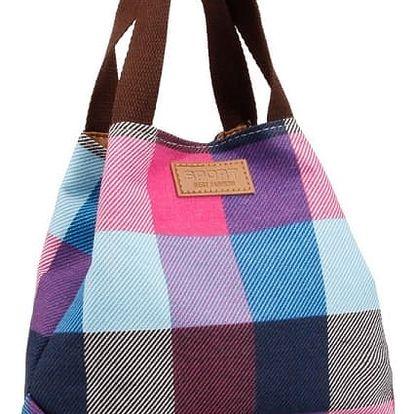 Mini stylová kabelka pro volný čas - kostkovaná varianta - dodání do 2 dnů