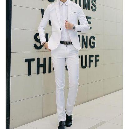 Pánský oblek - bílá, velikost č. 3