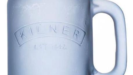 KILNER Sklenice s uchem Blue Frosted 400 ml, modrá barva, sklo