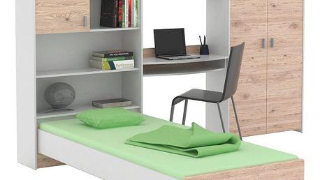 Pokoj pro mládež start-up bílá/san remo, 278,2/187,3/232,2 cm