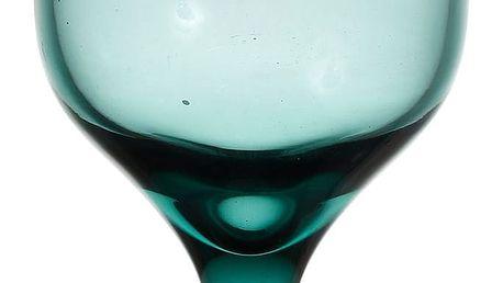 CÔTÉ TABLE Sklenice na víno Turquoise, modrá barva, zelená barva, sklo