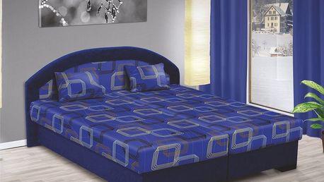 Manželská postel LENKA 160x200 vč. roštu, matrace a ÚP
