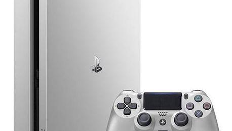 Herní konzole Sony PlayStation 4 SLIM 500GB + DualShock4 (PS719848769) stříbrná Gamepad Sony Dual Shock 4 pro PS4 v2 - černý (zdarma) + Doprava zdarma
